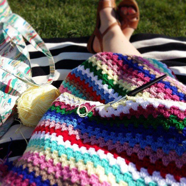 girlfromalittletown crochet colorful blanket
