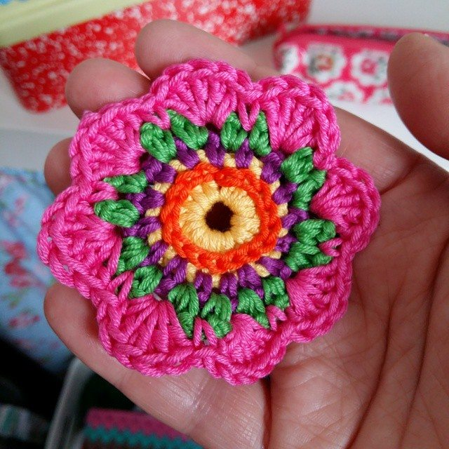 girlfromalittletown crochet flower