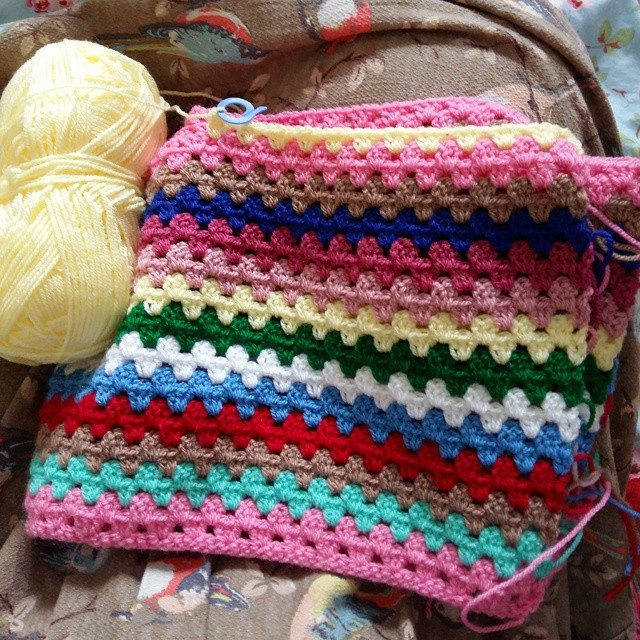 girlfromalittletown crochet granny blanket