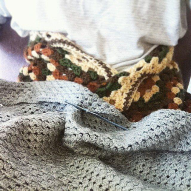 hayleyarious crochet granny blanket