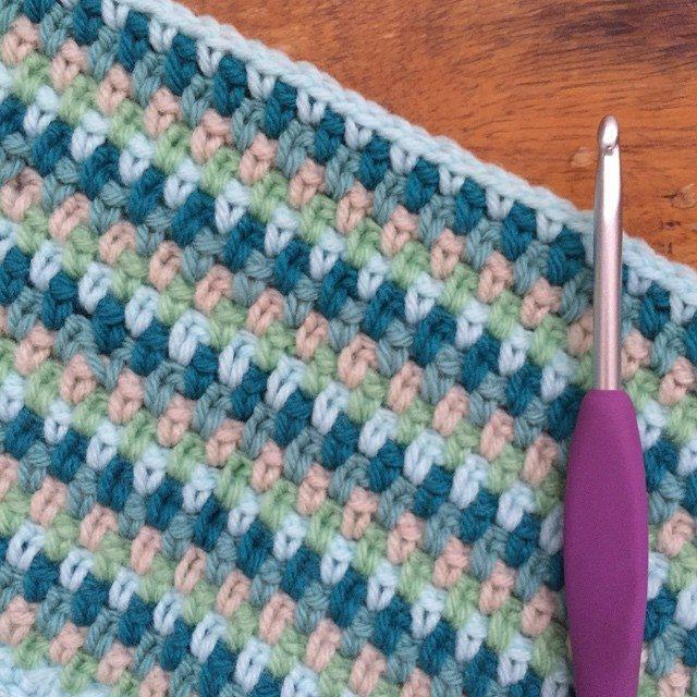 holly_pips crochet moss stitch
