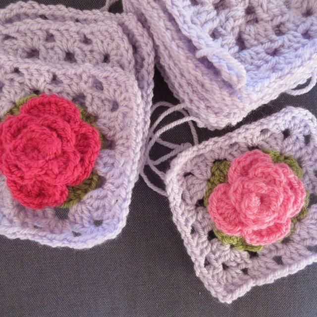 inspiringcrochet crochet flower squares