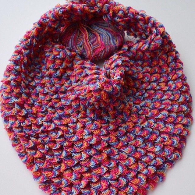 knitpurlhook crochet crocodile stitch