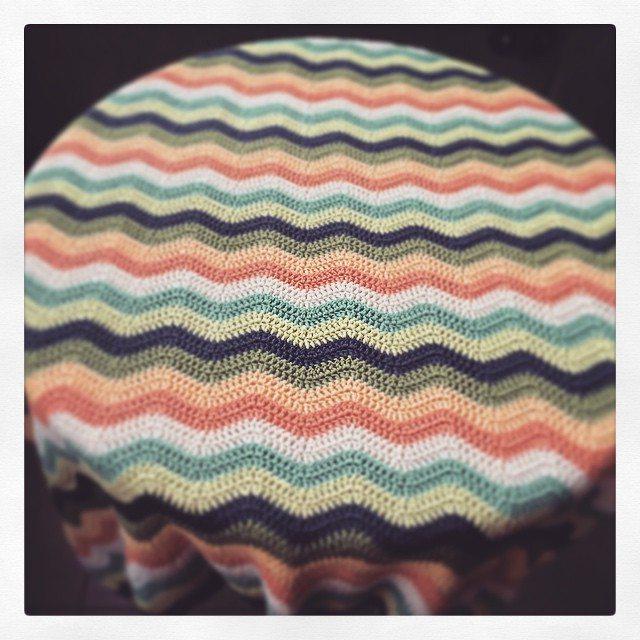 knitpurlhook crochet ripple blankets