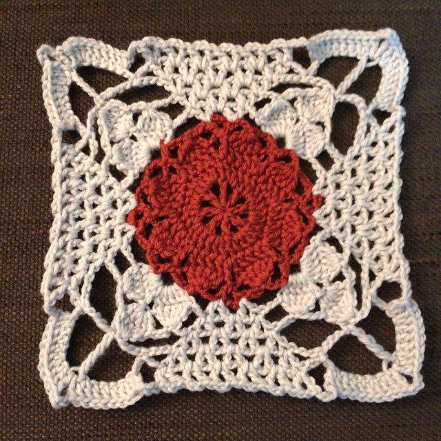 knitpurlhook #rusticlacesquare crochet