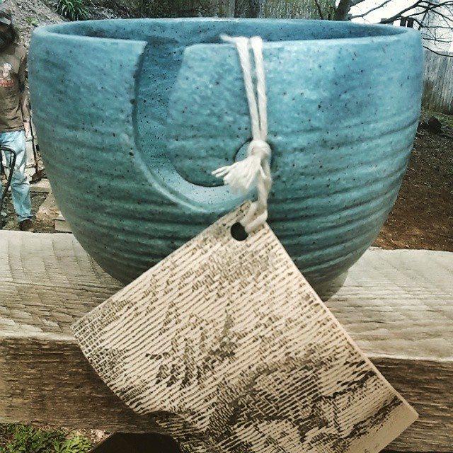 krystlewvscrochet yarn bowl
