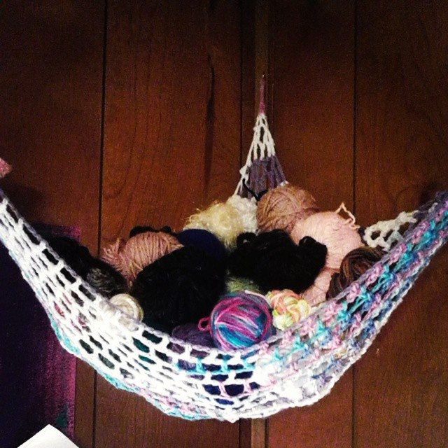 krystlewvscrochet yarn hammock