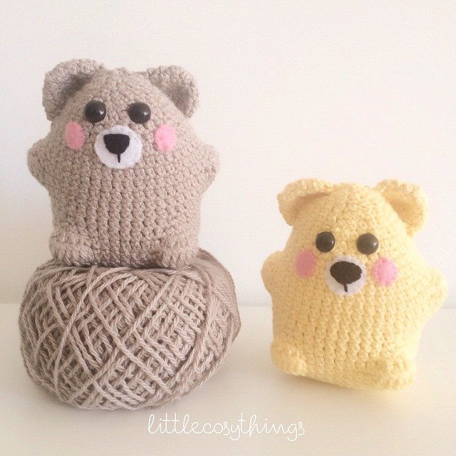 littlecosythings crochet bears