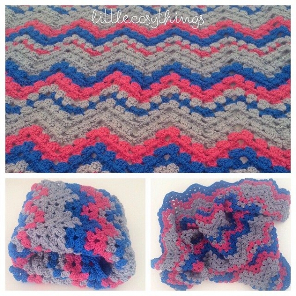 littlecosythings crochet chevron blanket