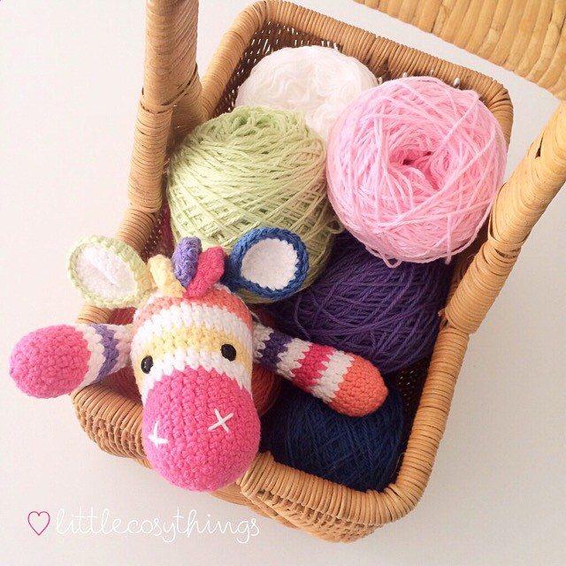 littlecosythings yarn crochet zebra