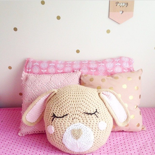 littlefoxcrochet bunny cushion