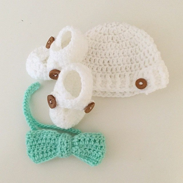 littlefoxcrochet crochet baby set