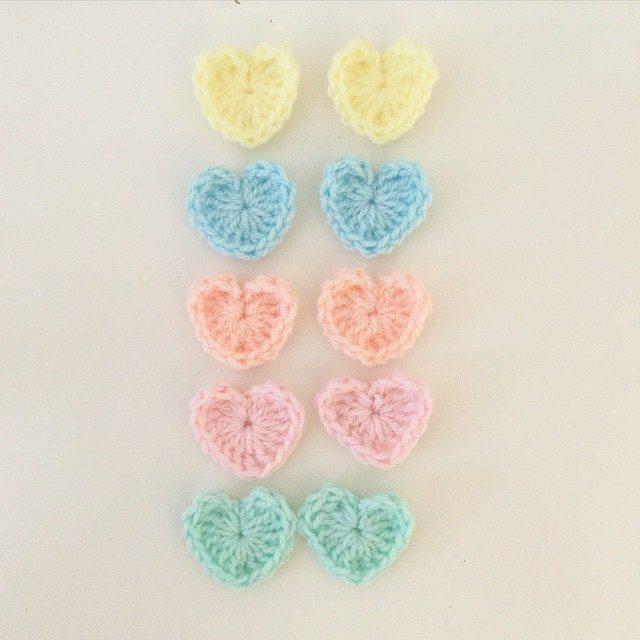 littlefoxcrochet crochet hearts