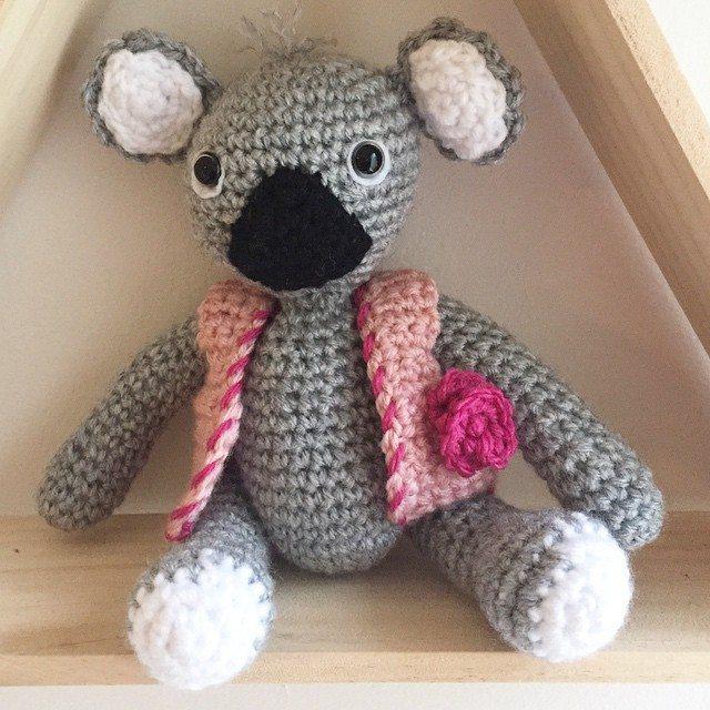 littlefoxcrochet crochet koala