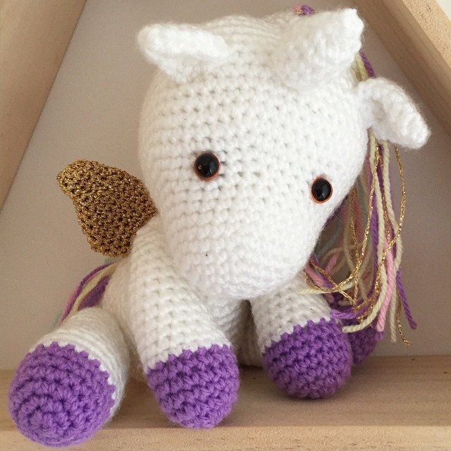 littlefoxcrochet crochet unicorn