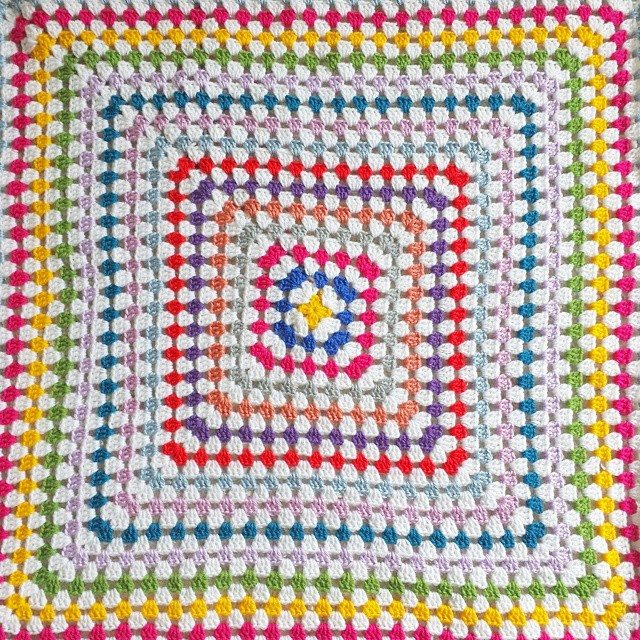 missmotherhook crochet granny square blanket