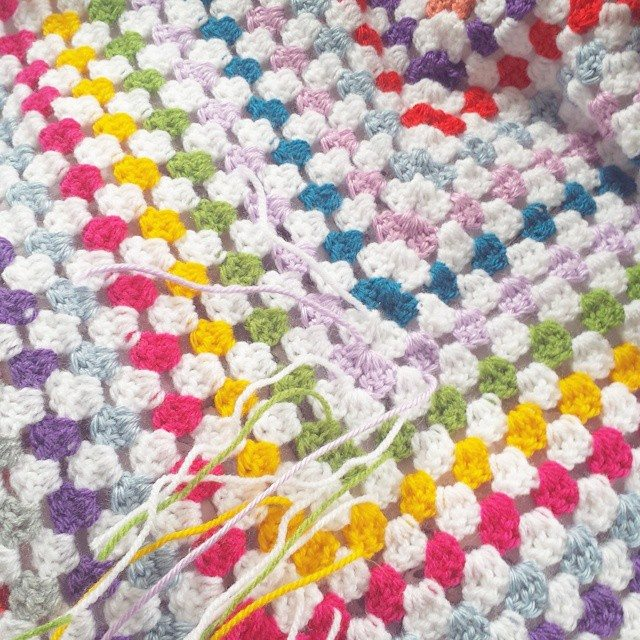 missmotherhook crochet rainbow granny blanket