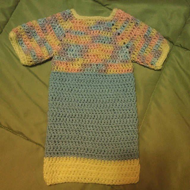 mlissabethgr crochet baby nightgown