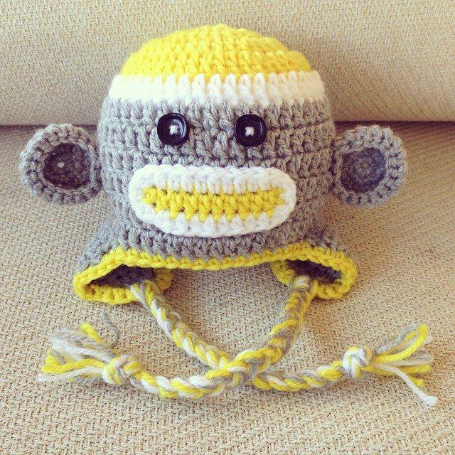 _nessbombaert_ crochet monkey hat