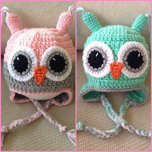_nessbombaert_ crochet owl hats