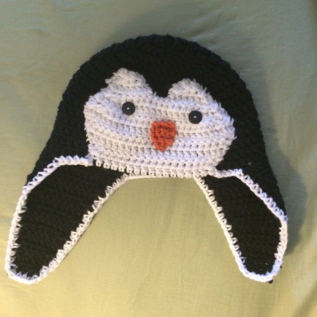 onaturbokick88 crochet penguin hat
