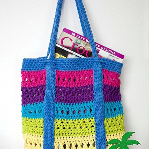 patternparadise crochet tote bag