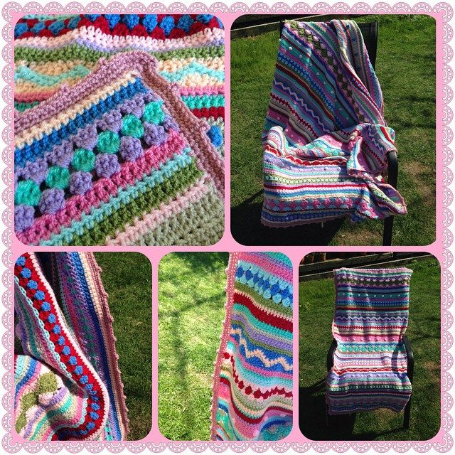 peeka_bo_crochet crochet colorful blanket