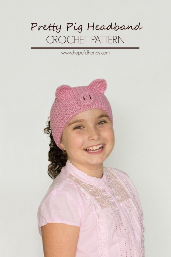 pig headband crochet pattern
