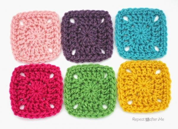 pixel crochet squares pattern