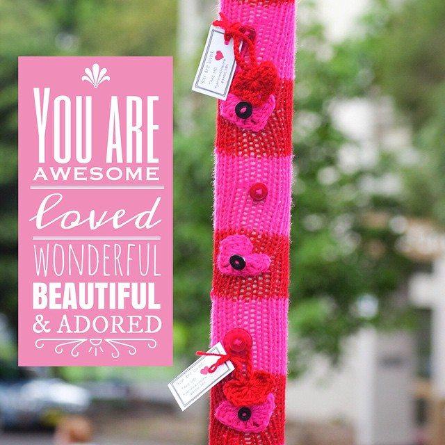 queen_babs crochet yarnbomb quote