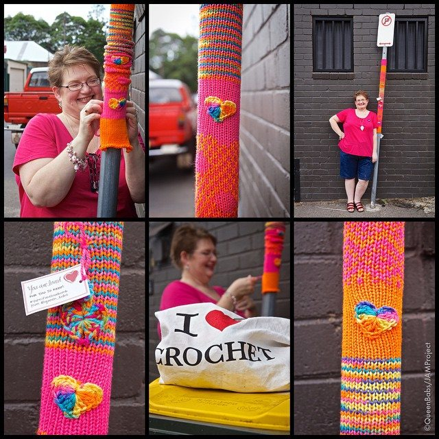 queen_babs yarnbomb crochet art