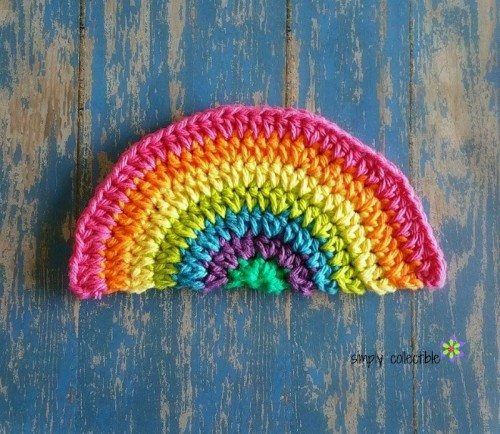 rainbow crochet washcloth pattern