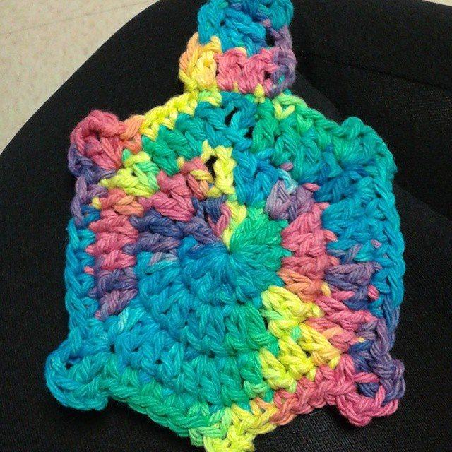 sabrinamc7 crochet turtle coaster