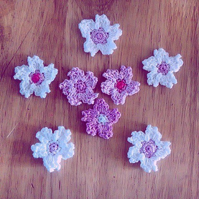 sakurablythe crochet blossom