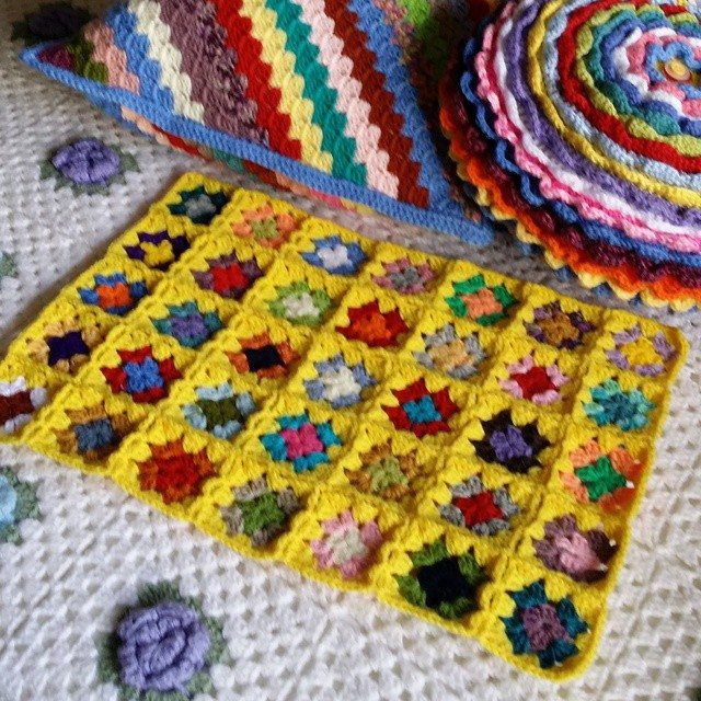 scrumbleweed colorful crochet squares