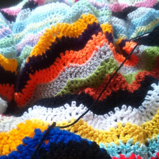 silvery_cloud crochet blanket