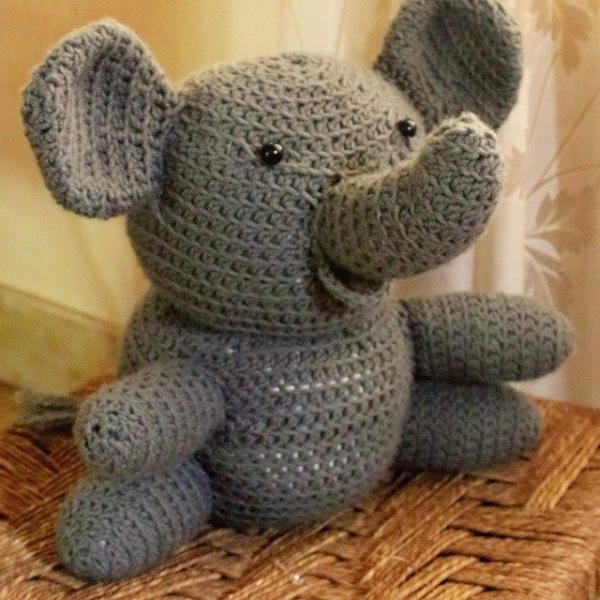 sskakj crochet elephant