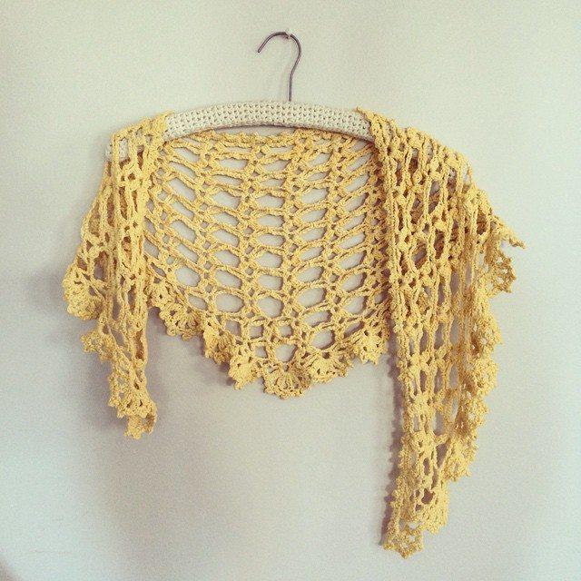 stelcrochet lacy crochet scarf