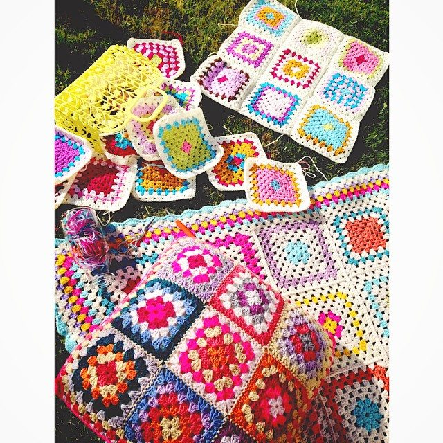 sweet_sharna colorful crochet squares
