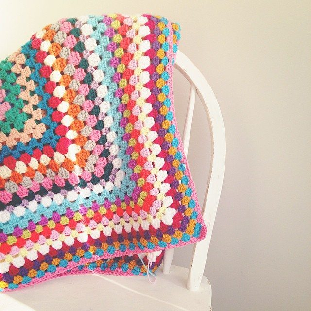 sweet_sharna crochet granny blanket