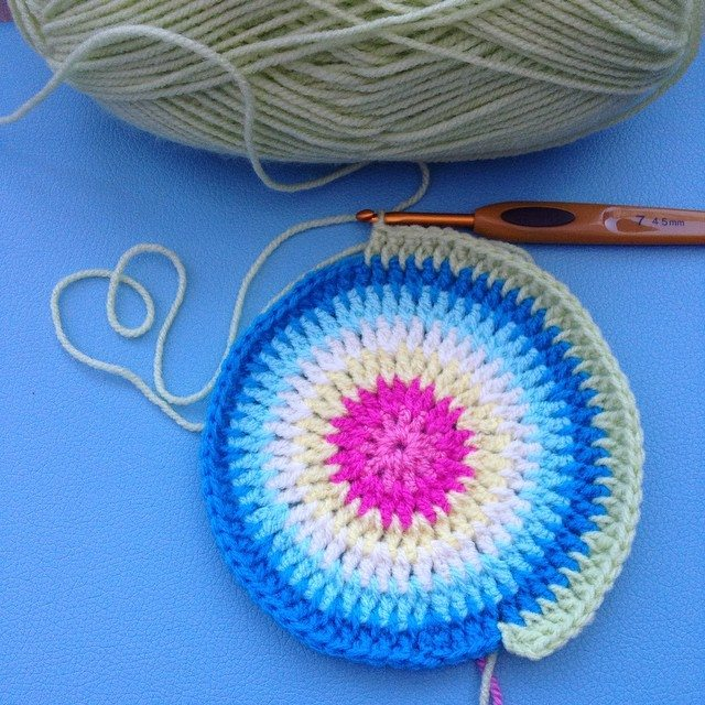 tinachalks colorful crochet circle