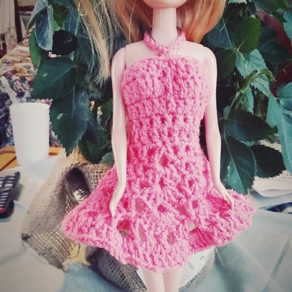 tracymaybe crochet doll dress