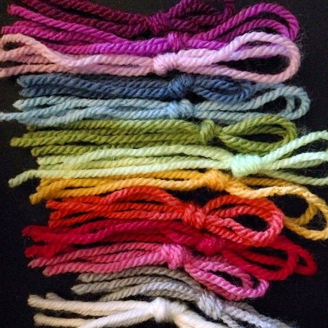 twoplums yarn color palette