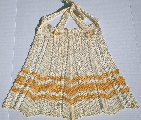 1940 crochet apron