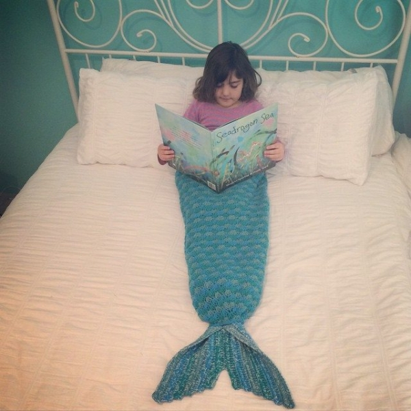 crochet mermaid blanket tail