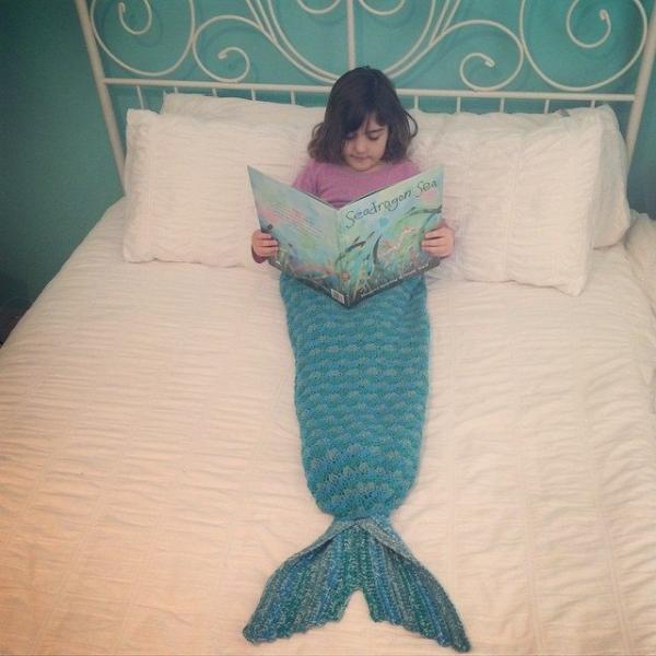crochet mermaid blanket tail