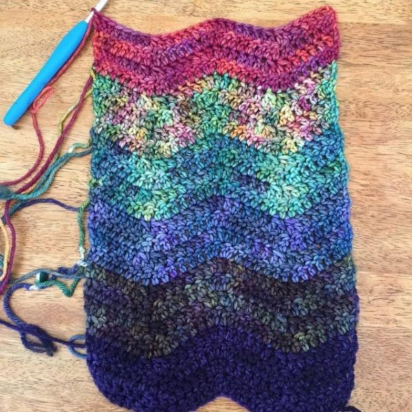 akblueflower crochet ripple