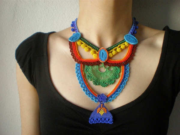 beaded crochet jewelry