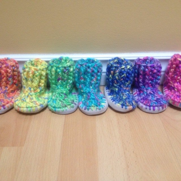 carefulcatherine crochet baby shoes
