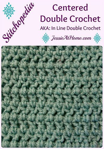Crocheting Double Crochet : centered double crochet stitch